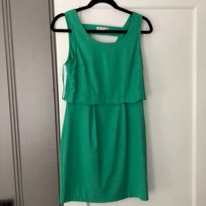 Francesca's green scallop dress